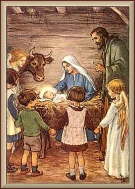 Jesusbarnet i vit chokald