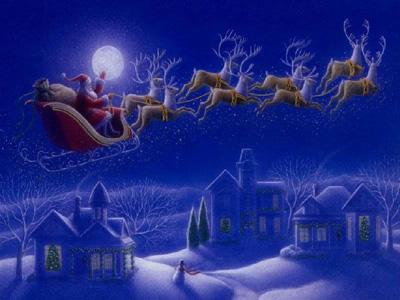 grattiskort julkort Jultomten är på väg till dig   Vykort, födelsedagskort  grattiskort julkort