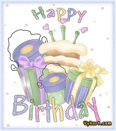 grattiskort födelsedagskort Happy birthday   Vykort, födelsedagskort, grattiskort, julkort, e kort grattiskort födelsedagskort
