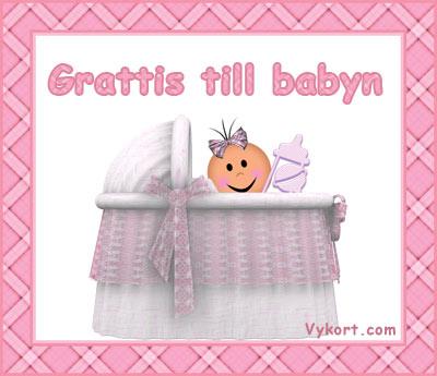 grattiskort till baby Baby~flicka   Vykort, födelsedagskort, grattiskort, julkort, e kort grattiskort till baby