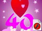 40 års hälsning 40 års kort   Vykort, födelsedagskort, grattiskort, julkort, e kort 40 års hälsning